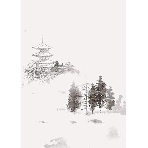 Handgemalte einfache Spritztinte abstrakte Tapete chinesische Art Tuschemalerei