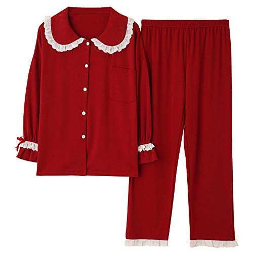 Pyjama Damen Nachthemd Schlafanzug Frauen Kleidung Für Herbst Winter Pyjamas Sets Nachtwäsche Schöne Pyjamas Langarm Baumwolle Sexy Pyjamas Weiblich L D2219