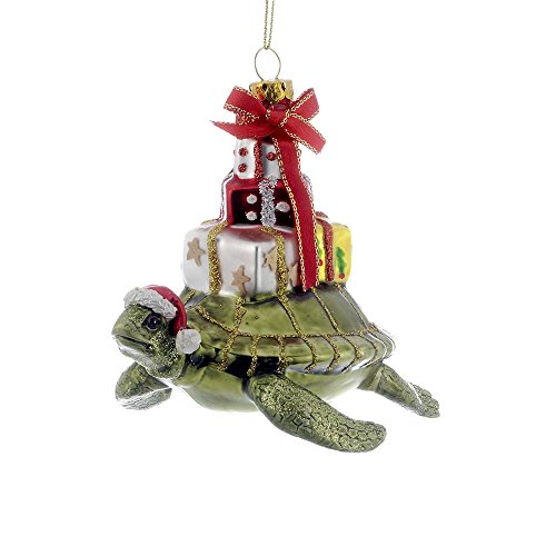 Kurt Adler 4' Glass Turtle with Gift Ornament