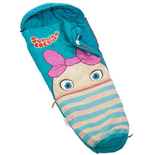 skandika Sorgenfresser Lillifee Schlafsack für Kinder mit großer Tasche, 170 (140 + 30) x 70/45 cm, Polli, Flint, Saggo, Pat, Enno, Lilli (Lilli)