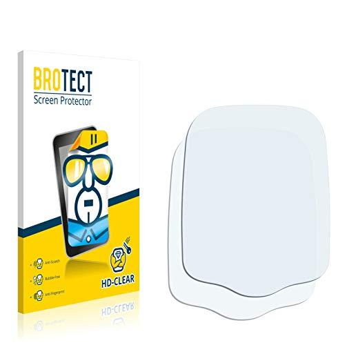 BROTECT Schutzfolie kompatibel mit Holux GPSport 245 Lite (2 Stück) klare Displayschutz-Folie