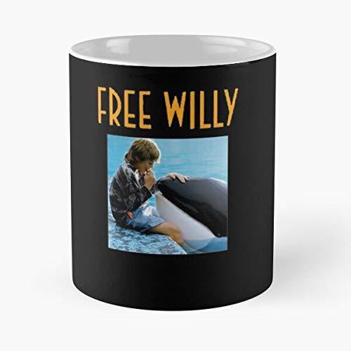 Michael Jackson Whale Willy Free Orca Killer Die Beste 11 Unzen weiße Marmor Keramik Kaffeetasse