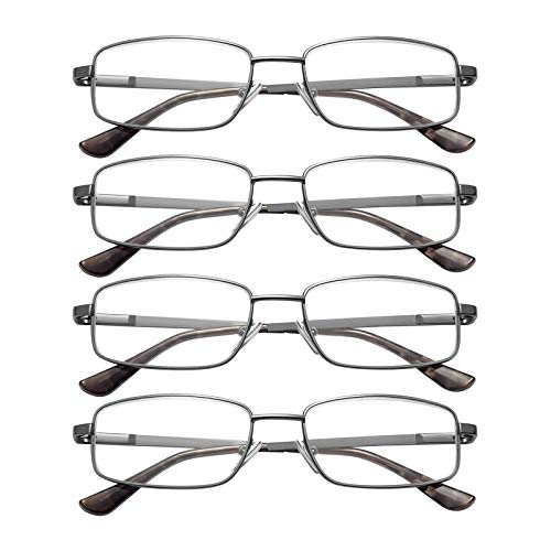 EFE Reading Glasses 4 Pack - Men's Reading Eyeglasses Phone Book Readers...