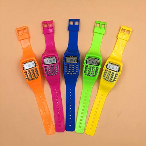 DishyKooker Elektronischer Taschenrechner Uhr Spezialrechner Multifunktionsrechner für die Grundschule Grün articulos de producto