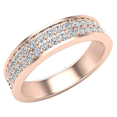 Glitz Design Mujer Hombre Niños Unisex oro 14 quilates (585) oro rosa 14ct Round Brilliant IJ Diamond