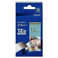ブラザー工業 TZe-RL34 TZeテープ リボンテープ(ライトブルー地/金字) 12mm