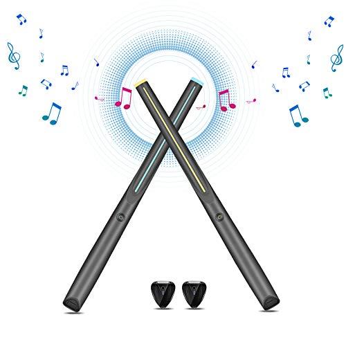 TELAM Juego de baquetas electrónicas para batería de aire, inalámbricas Bluetooth rítmica...