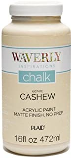 Waverly Inspirations Matte Chalk Finish Acrylic Paint, 16 oz ( Cashew )