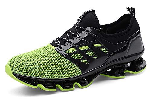 Hommes Chaussures de Sport Basket Running Compétition Training Fitness Tennis Athlétique Sneakers,Jaune et Noir,47 EU
