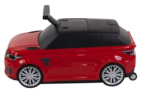 Montable y Maleta 2 IN 1 Range Rover SVR Autorizado Land Rover Infantil Coche Maleta para Niños y Equipaje para Niños - Rojo, Rutscher