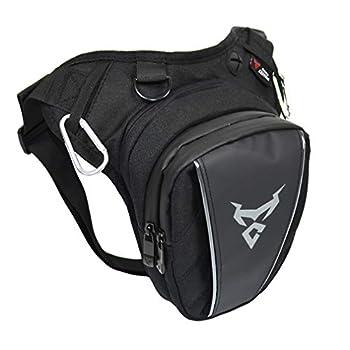 Hebetag Moto Drop Leg Bag Oxford Taille Pack pour Hommes Femmes Bum Hip Fanny Ceinture Sac À Main Pochette Voyage En Plein Air Randonnée Cyling Cuisse Sac À Dos