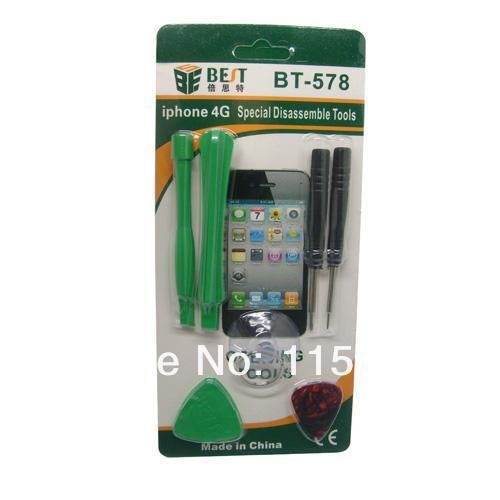 1 piece BEST-578 Repair Opening Tool Kit include 5 Point Star Pentalobe Torx Screwdriver for iPhone 4 4G