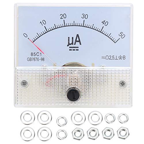 Medidor de panel de corriente analógica 85C1 DC0-50UA medidor de amperímetro de...