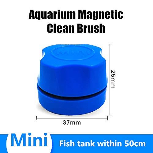 FEDBNET Algenschaber Aquarium Glasreiniger, Fisch Mini Algenschaber Super Magnetbürste, Aquarium Glasreiniger, Aquarium Reinigungswerkzeug