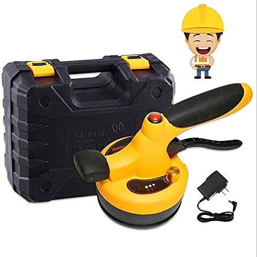 joyvio Tile Tiler, Herramienta eléctrica de Carga automática para Piso | Martillo Vibrador para Baldosas y Baldosas Niveladoras | Adsorción máxima de 30 kg