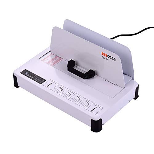 Aibecy RAYSON Máquina de encuadernación de fusión en caliente de escritorio A4 Libros Contrato Documento Carpeta automática 300W 50mm(480 hojas de papel) Espesor de encuadernación para oficina escolar