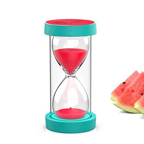 HOMEWINS Reloj de Arena Temporizador 30 Minutos Reloj de Arena para Niños Aula Juegos Cepillado Oficina Surtido Fruta Decoración Surtido Cocina Regalo en Casa Aula (Sandia)