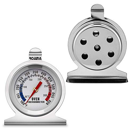 Oven Thermometer, Rojuna Stainless Steel Grill/Smoker Thermometer That Hangs, DInstant Read Temperature for Kitchen Cooking Baking Roasting Smoking Warming BBQ