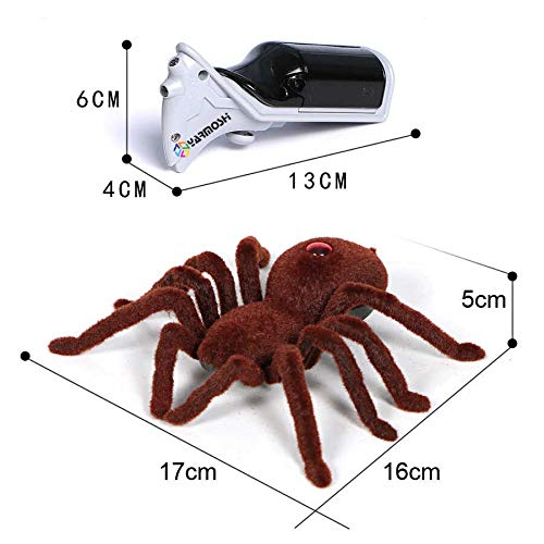 YARMOSHI RC Spider Tarantula Robot Remote Control Fun Gift for Boys Girls and Game for Pets Dog Cat Trick Toy Prank Fake Age 5+