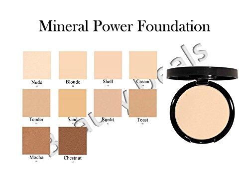 Beauty Deals Mineral Makeup Pressed Powder Foundation - Hypoallergenic- w/sponge (Cream)