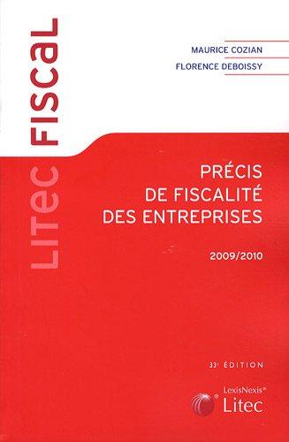 Précis de fiscalité des entreprises 2009-2010 (ancienne édition)