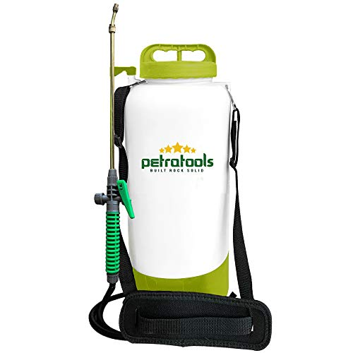 PetraTools 2 Gallon Battery Sprayer – Ultra Convenient Battery Powered Sprayer, Garden Sprayer & Weed Sprayer with Easy-to-Carry Strap, Electric Sprayer & Yard Sprayer with Long-Lasting Battery Life