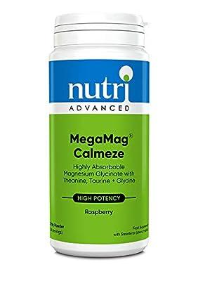 MegaMag Calmeze - Raspberry - 270g by Nutri Advanced - Powdered L-Theanine, Taurine, Glycine & Magnesium by Nutri Advanced