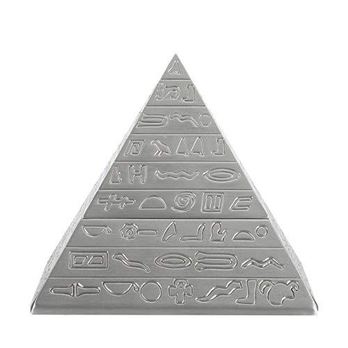 Surebuy Cenicero Retro, Creativo Vintage, cenicero piramidal, para Adornos de Oficina para decoración de Mesa para Regalo Masculino para el hogar(Ancient Tin)
