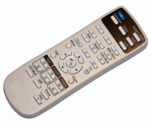ELECTRON SELLER - Mando a Distancia Universal para proyector Epson EB 1840W 1850W 1860 1870 1880 420 425W 430 435W 470 475W 475Wi 480 480e 480i 485W 485Wi C26XE C30XE S01