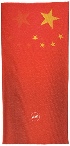 Had Écharpe Multifonction Adultes Original la Chine, Rouge/Jaune, One Size, HA110–0583