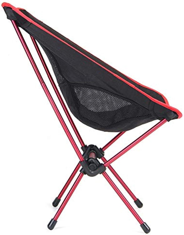 Tolunt - Leichtklapp Angeln Stuhl-Sitz für Outdoor-Camping-Freizeit Picknick Strand Stuhl Stuhl Tragbare Angeln Max Last 100kg Rot