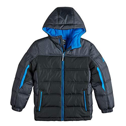 ZeroXposur Boys Puffer Jacket, Lightweight Quilted Boys Jacket (Black/Navy Blue/Grey, X-Large 18/20)