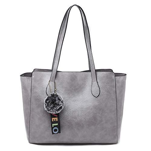 Women's handbag fashion casual one shoulder messenger bag hand bag,Light Gray