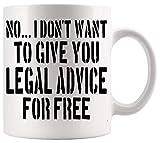 Taza de abogado Taza de abogado Taza de abogado de abogado Regalo de estudiante de derecho Abogado Asesoramiento legal gratuito Tazas de 11 oz