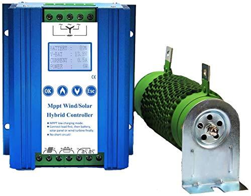 FLYT 1400 W Wind-Solar-Hybrid-Laderegler, 800 W Wind und 600 W Solarpanel 12 V/24 V Off-Grid MPPT Windturbine Solar Laderegler