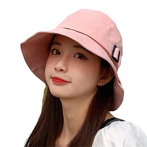 KFGF Cappello da sole da donna, resistente al sole, per primavera, estate o autunno, tesa grande, con visiera parasole, adatto per uso esterno, Colore: rosa., 54/58 cm