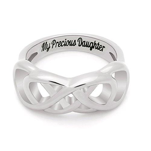 Doble infinity hija Anillo, anillo de promesa...