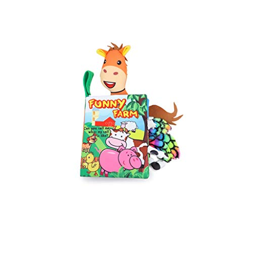 hsj Quiet Buch weiches Babytuchbuch Unterricht Kinderspielzeug Badespielzeug Exquisite Verarbeitung (Color : C)