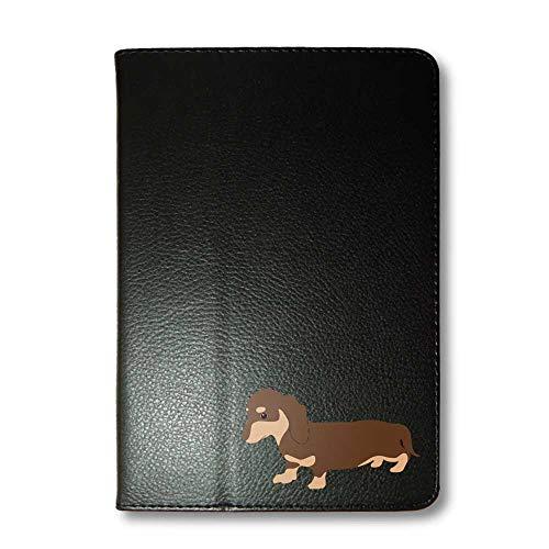 ダックスフンド チョコ&タン タブレットケース iPad 手帳型 iPad Pro 9.7 ブラック 犬 柴犬 黒柴 日本犬 ペット 動物 アニマル タブレットカバー タブレット ブック型 iPadPro9.7 アイパッド 黒 Fave フェイブ f020