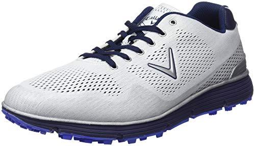 Callaway Chev Vent, Chaussures de Golf Homme, Blanc/Bleu, 42.5 EU