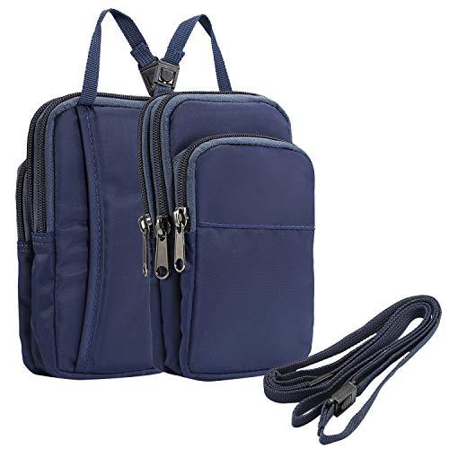 SZCINSEN Bolso bandolera para el teléfono para iPhone Xs Max XR 7 8 Plus, bolso para deportes al aire libre (color azul)