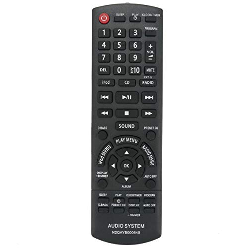 N2QAYB000640 Replacement Remote Control Applicable for Panasonic SC-HC25...