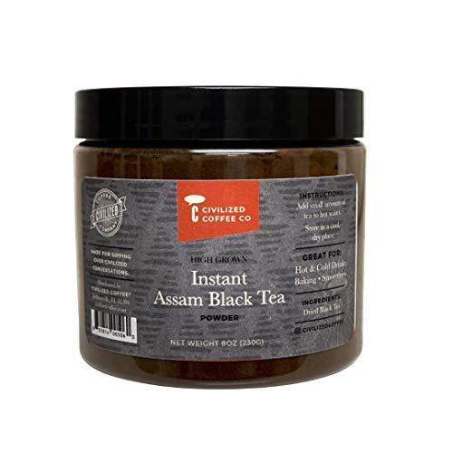 Civilized Coffee Instant Assam Black Tea Powder for Hot Tea, Iced Tea & Baking (8 oz)