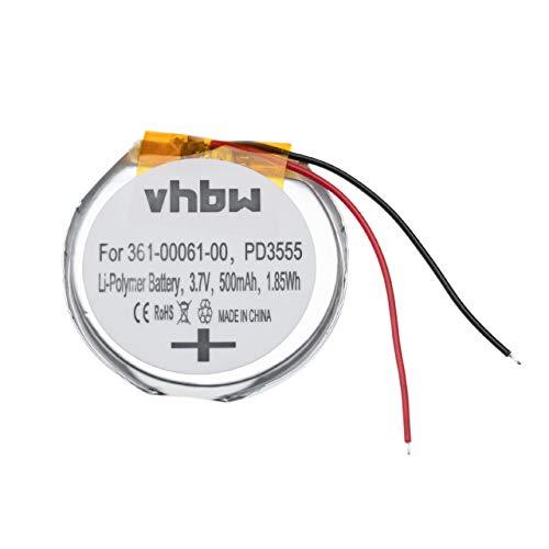 vhbw Batería Recargable Compatible con Garmin Fenix 1, 2 smartwatch, Reloj de Actividad (500 mAh, 3,7 V, polímero de Litio)