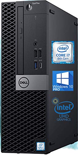 Dell OptiPlex 5070 SFF Desktop Computer - Intel i7-8700 4.6 GHz, 16GB RAM 1TB M.2 NVMe SSD, UHD Graphics 630 4K, DisplayPort, HDMI, AC Wi-Fi, Bluetooth, USB Type-C – Windows 10 Pro (Renewed)