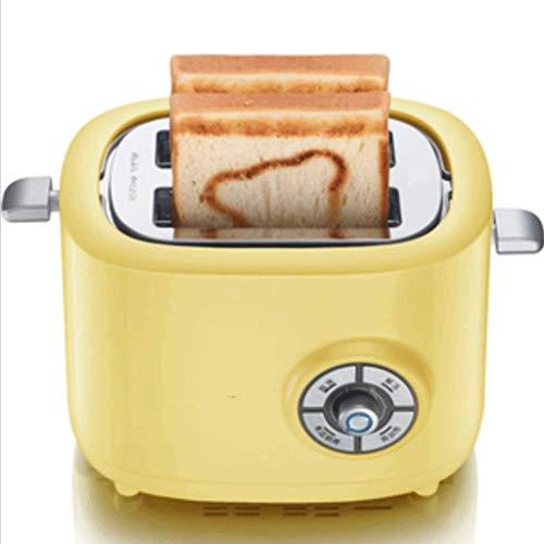 Mnjin Multifunktionaler Brotbackautomat Toaster 2 Slice, Retro-Toaster mit Bagel, Abbrechen, Auftaufunktion, extra breiter Schlitz Kompakte Edelstahl-Toaster für Brotwaffeln
