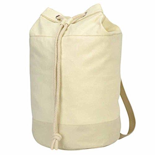 Shugon - Sac paquetage marin coton naturel - réf 604.38-1192 - coloris blanc naturel