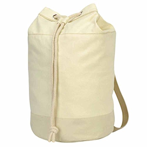 Shugon - Sac paquetage marin coton naturel - réf 604.38-1192 - coloris blanc naturel