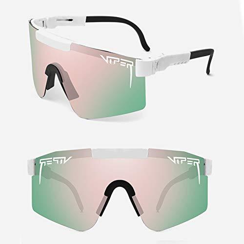 Gafas De Sol Polarizadas, Gafas De Ciclismo UV400 Bicicleta Montaña, Gafas De Sol Deportivas,Rosado