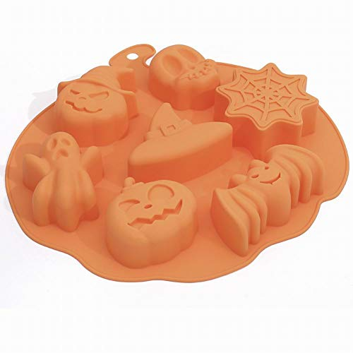 Silicona Halloween Pastel Chocolate Molde DIY Fondant Molde Glaseado Azúcar Molde Herramienta De Hornear